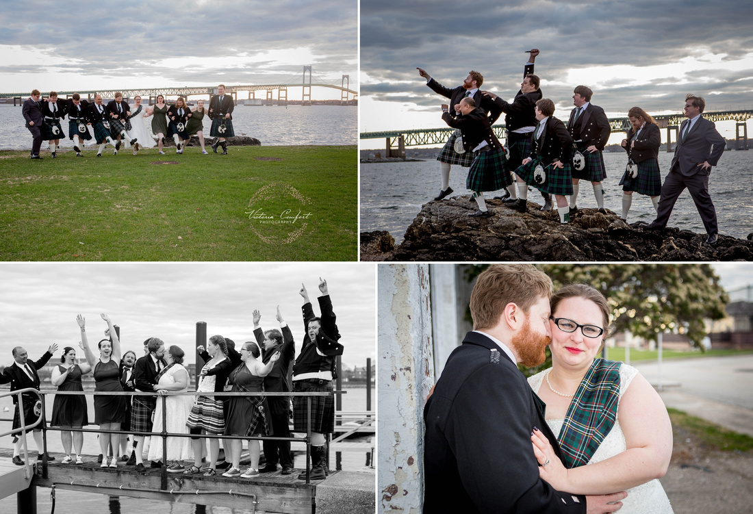 RI Photographer Victoria Comfort captured Leslie and Kevin's wedding in Newport, RI at Trinity Church and The Naval Officer's Club