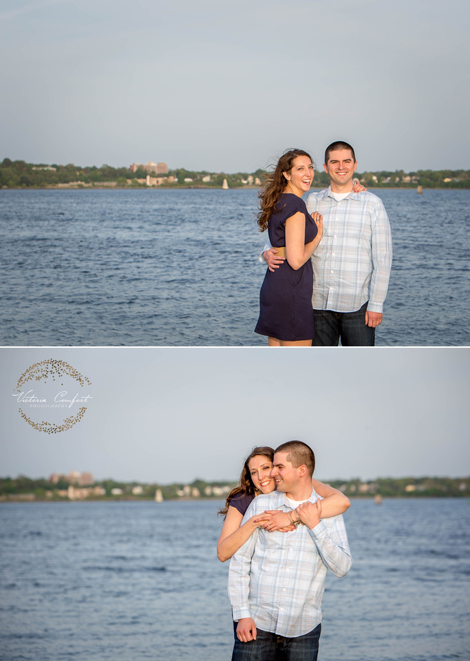 RI Photographer Victoria Comfort captured Amy and Shaun's Engagement Photos at Johnson and Whales in Cranston, Rhode Island
